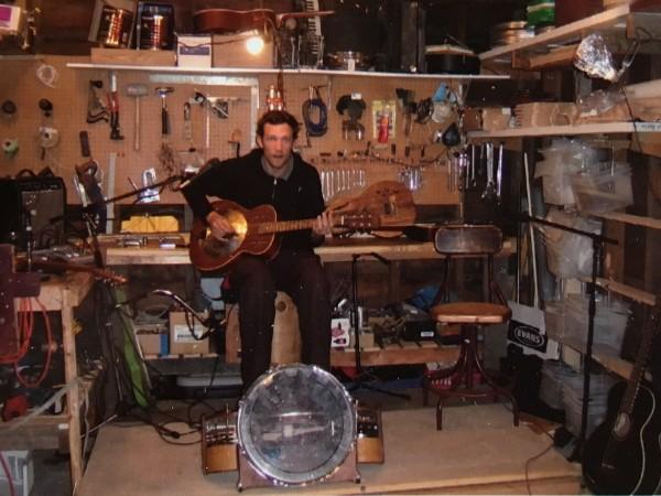 Pete Farmer in first garage
